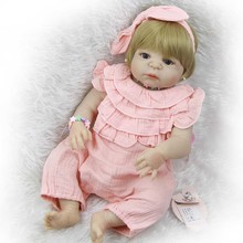 23'' 58 cm Realistic Reborn Babies Alive Girl Toddler Toy Full Silicone Baby Dolls Vinyl Body Boneca Reborns Doll Kits Playmates(China)