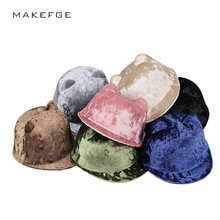 2017 autumn and winter high quality BlaCute Winter Cat Ear Wool Felt Fedora Hat Girl Boy Kid Children Derby Bowler Brand pink(China)