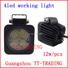 2.5'' 12w led work lights off-road vehicle driving light Truck Trailer Motorcycle Motor Heavy Duty DC 10V-30V