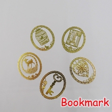 (50 Pieces/Lot) Kawaii School Stationery Gold Metal Bookmark Clip / Vintage Stainless Steel Bookmarks For Books F873