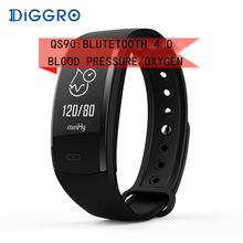 Buy Diggro QS90 Blood Pressure Smart Bracelet Heart Rate Monitor Blood Oxygen Monitor IP67 Fitness Tracker Andriod IOS VS QS80 for $13.99 in AliExpress store