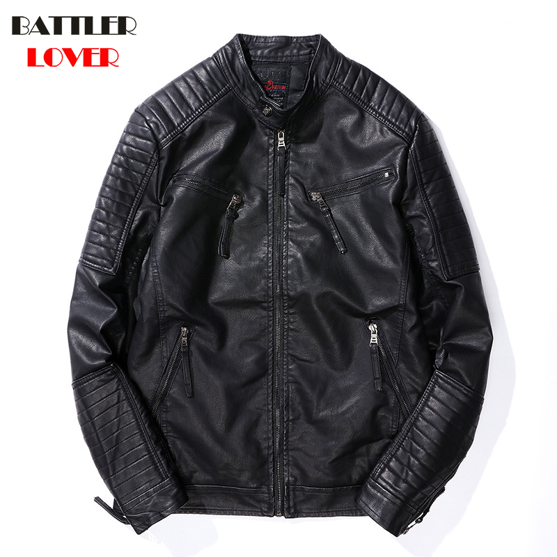 Mens Leather Coat Winter Fleece Faux Leather Warm Outwear Coats Men Biker Parka Jackets Hombre Thick PU Overcoat Brand Clothing