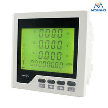 3LD3Y panel size96*96 low price industrial type LCD 3 phase digital energy meter, with fire monitor function