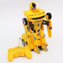 Mini rc toys for boys Diecasts & Toy Vehicles robot gift for children rc stunt car(China)