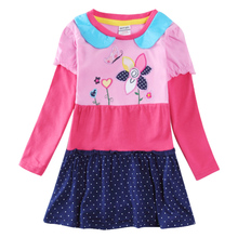 spring autumn baby girl clothing 2016 nova long sleeve embroidery floral causal style girl dress children clothes child wear