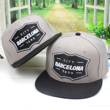 2016 Men's New CITY BARCELONA 1899 Casual Snapback Hats Stick Backing Baseball Cap Hip Hop Caps For Men Women Gray Camouflage