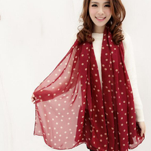 New Arrivals 160*40cm Female Polka Dots Scarf Shawl Neck Wrap Headscarf Chiffon Print Scarves Women Accessory Summer Scarf