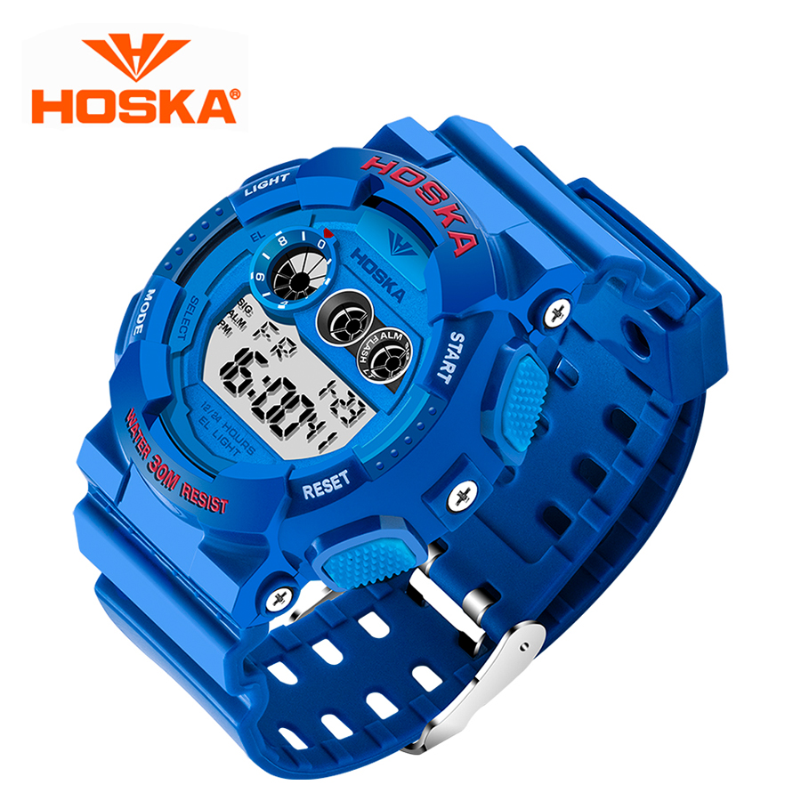 HOSKA Brand Men Sports Watches LED Digital Watch Fashion Outdoor Waterproof Military Mens Wristwatches Relogios Masculinos 2016<br><br>Aliexpress