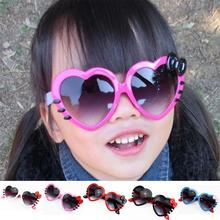 Lovely Head Wear Parts Children Mirror Sunglasses Peach Heart Bow Sunglasses UV Sunscreen