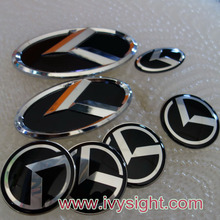 7pcs set kia k sticker decal logo red / black 60mm wheel kia k badge emblem center cover for Optima K5