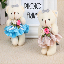 1PIECE 12cm plush toy bear with wholesale Cartoon bouquets teddy bears Baby doll Cartoon animation toys