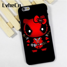 LvheCn phone case cover fit for iPhone 4 4s 5 5s 5c SE 6 6s 7 8 plus X ipod touch 4 5 6 Hello Kitty Deadpool Superhero(China)