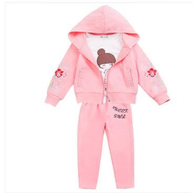 NICBUY brand TZ81019X  4 color 2018 new style  girl fashion three-piece suit childrens  suit , 4<br>
