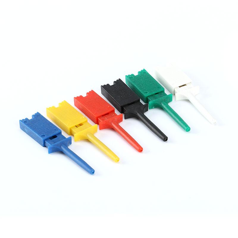 "10x Single Hook Clip Mini Grabber Test Probe f SMD IC Multimeter 1.6/"" 4cm Black"