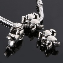 Penney 3pcs 14*14MM Antique Silver Beads Alloy Baby charms Pendant Hole Diameter 4MM Jewelry Findings