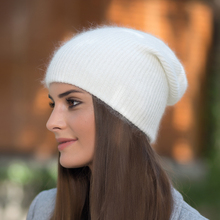 YWMQFUR Hot selling 2017 New Women Fashion Autumn And Winter Hat angora Knitted Skullies Beanies Cap Classic color hats H189(China)
