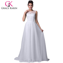 Grace Karin Long Lace Evening Dress White Green Blue Purple Black Party Prom Gowns Elegant Evening Dresses Robe De Soiree 2017