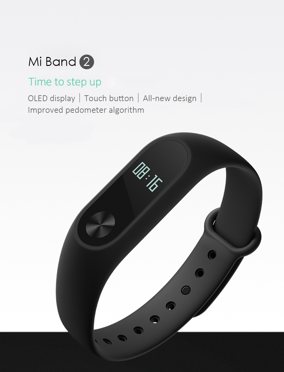 Original Xiaomi Mi Band 2 Wristband Optional Colorful Straps Sleep Tracker IP67 Waterproof Smart Mi Band For Android IOS Phones 1
