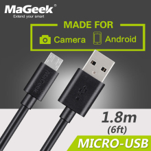 MaGeek 1.8m / 6ft Premium Extra Long Micro USB Cable High Speed Cables 5V2.0A for Android(China)