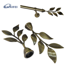 D20mm Curtain Rod Decorative Head Romana Five Leaves , Curtain Accessories Finials for Window Decoration(China)