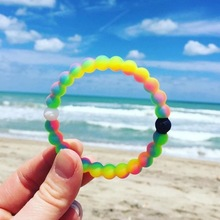 8mm Candy colors Silicone Beads Bracelet for Men Women Trendy DIY lokai bracelet Strand Bandage Charm Bracelets Bangles.