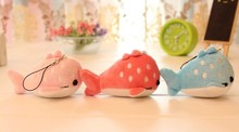 Kawaii CUTE Embroidery Whale 10CM Plush Stuffed Keychain & Phone Charm Strap DOLL TOY BAG Pendant Wedding Bouquet TOY Gift DOLL