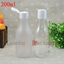 200ml X 50pc Frosted/clear Flip Cap Bottles  Used In Shampoo, Shower Gel, Pet Grooming Products Packaging Cream Body Bottles