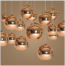 Mirror Glass Ball Pendant Lamp Dixon Chandelier Ceiling Light Fixture New Chrome For Dinning Room Home Decor(China)