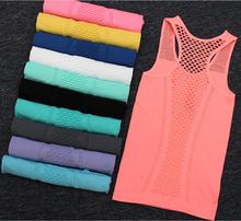 11 Colors Summer Mesh Hollow Out Sexy Women Yoga Tank Tops Femme Sport Sleeveless Yoga Shirt Fitness Gym Vest Clothes Ropa Mujer