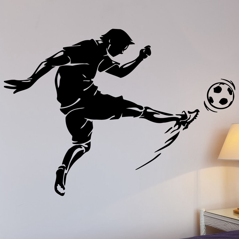 Football Sticker Player Sports Soccer Decal Posters Vinyl Wall Decals Pegatina Quadro Parede Decor Mural Football Sticker