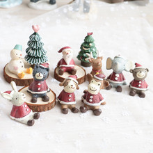 Christmas Decoration For Home Looking up at starry sky Cute little animals Christmas Ornaments New Year Supplies(China)