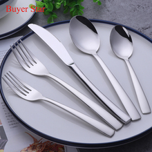 1lot/20 pieces 18/10 Stainless Steel Luxury Dinnerware Set Fork Knife Silverware Set Home Tableware Dessert Fork Cutlery Sets(China)