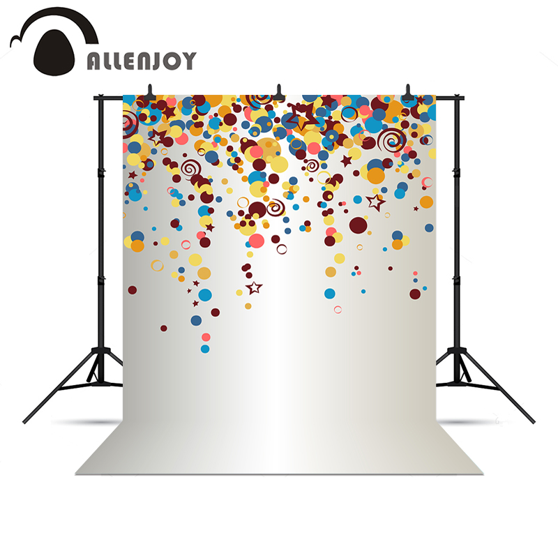 Allenjoy Photo background dots white circles colourful adorable celebrate chrismas gifts for kids Vinyl background pictures<br><br>Aliexpress