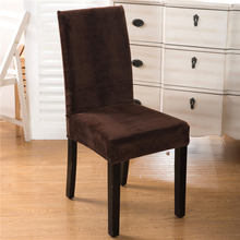 Spandex Velvet Dining Chair Cover 100% Polyester Solid Anti-Dirty Chair cover Decoration Home Hotel Part Case(China)