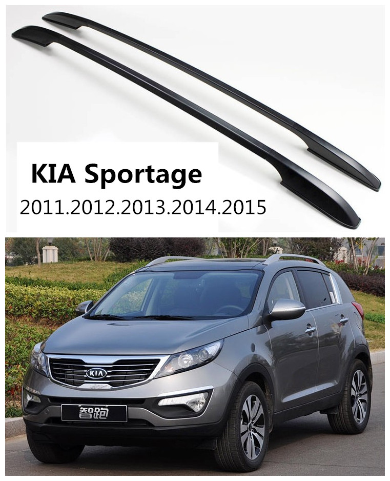 Car Roof Racks Luggage Rack For KIA Sportage 2011.2012.2013.2014.2015 High Quality Aluminium Paste Installation Auto Accessories(China)