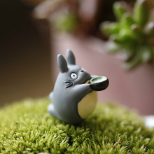 Hot Selling 1pcs Miyazaki My Neighbor Totoro Toys Drink Tea Micro Landscape Gardening Potted Decoration Action Figure Toys