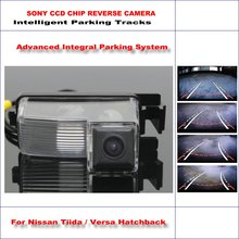 Buy HD SONY Car Rear Camera Nissan Tiida / Versa Hatchback Intelligent Parking Tracks Reverse Backup / NTSC RCA AUX 580 TV Lines for $47.28 in AliExpress store