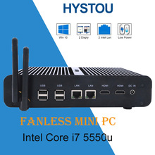 Hystou Newest Fanless PC Win10 Mini PC Max 3.0 GHz Fanless Nuc HTPC Intel Graphics HD 6600 4K TV Box(China)