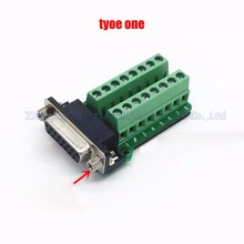 Female Parallel 2 rows 15 pins DB15 Serial port turn to wire terminals  DR15 female socket turn to terminal
