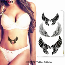 Nu-TATY Sexy Angel Wings Temporary Tattoo Body Art Arm Flash Tattoo Stickers 17*10cm Waterproof Fake Henna Painless