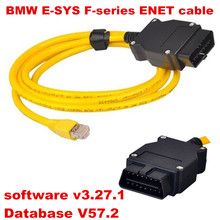 High Performance ESYS 3.27.1 V57.2 Data Cable For bmw ENET Ethernet to OBD OBD2 Interface E-SYS ICOM Coding Cable for F-series
