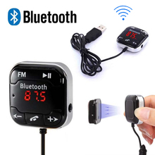 A2DP Car Kit Wireless Bluetooth FM Transmitter MP3 Player 3.5mm Audio AUX TF card Slots + Dual USB Car Charger +Magnetic sticker