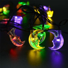 Premium Waterproof LederTEK 6m 30LED Solar Christmas Lights Vivid Moon Solar Powered Fairy String Light For Outdoor Gardens(China)