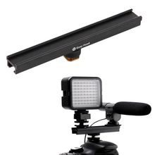 20cm 8'' Camera Hot Cold Shoe Extension Rail Bracket Bar for Flash LED Video light Microphone