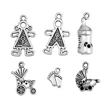 Doreen Box Lovely 30 Mixed Silver Tone Baby Charms Pendants (B08081)