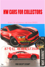 New Hot Wheels 1:64 red ford shelby gt350r Models Metal Diecast Car Collection Kids Toys Vehicle Juguetes