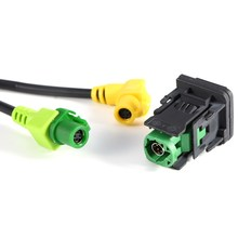 Car-Styling AUX USB Switch Cable Harness RCD510 RCD300+ For VW For Golf MK6 For Jetta MK5 For Sagitar For Polo New