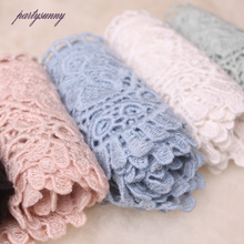 PF 3yards/lot 9cm Wide Lace Trim Guipure Lace Fabric Embroidered Mesh Fringe Trim for Sewing Accessories DIY Wedding Dress HB028(China)