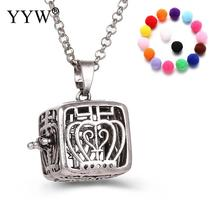 YYW Square Shape Perfume Aromatherapy Pendant Essential Oil Diffuser Pregnant Ball Locket Cage Colorful Pendant Women's Gift