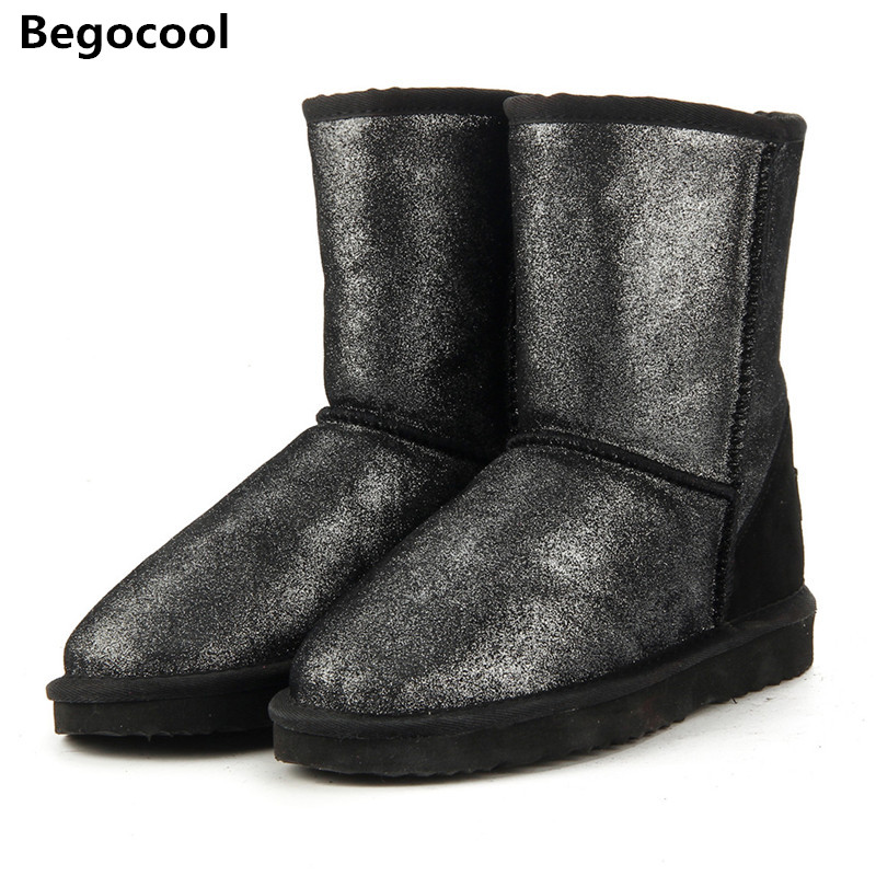 Begocool Top Quality Genuine Leather Snow Boots for Women Waterproof Winter Boots UG Women Boots 2 Colour shoes US 3.5-13<br>